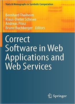 Download ebook Correct Software In Web Applications & Web Services
