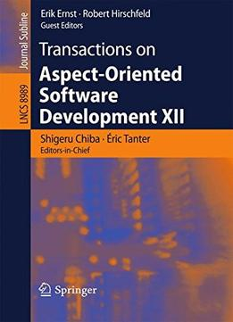 Download ebook Transactions On Aspect-oriented Software Development Xii (lecture Notes In Computer Science)