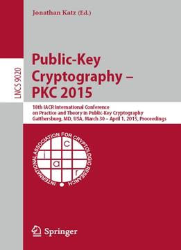 Download ebook Public-key Cryptography — Pkc 2015