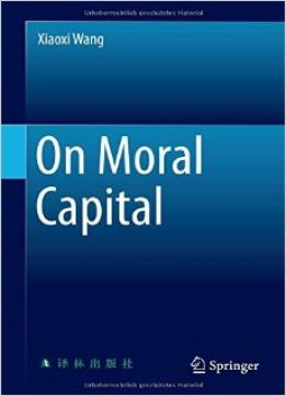 Download ebook On Moral Capital