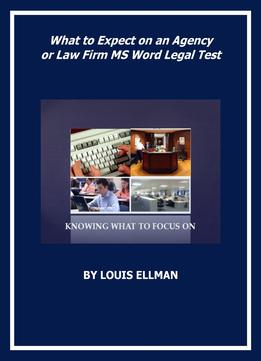 Download What To Expect On An Agency Or Law Firm Ms Word Test