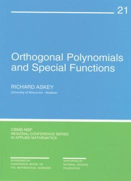 Download Orthogonal Polynomials & Special Functions