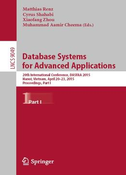 Download ebook Database Systems For Advanced Applications, Part I (lecture Notes In Computer Science)