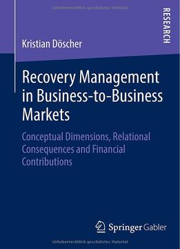 Download ebook Recovery Management In Business-to-business Markets