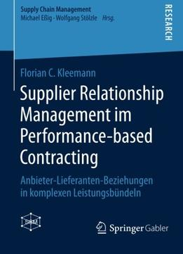 Download ebook Supplier Relationship Management im Performance-based Contracting