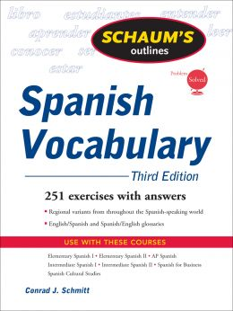 Download Schaum's Outline of Spanish Vocabulary, 3rd Edition