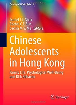 Download Chinese Adolescents In Hong Kong(Quality of Life in Asia)