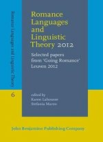 Romance Languages And Linguistic Theory 2012