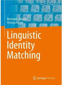 Download ebook Linguistic Identity Matching