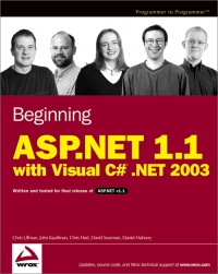 Download Beginning ASP.NET 1.1 with Visual C# .NET 2003