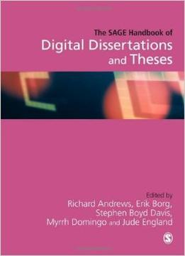 Download The Sage Handbook Of Digital Dissertations & Theses
