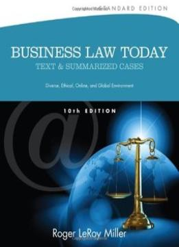Download Business Law Today, Standard: Text & Summarized Cases