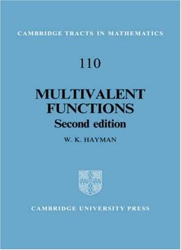 Download Multivalent Functions