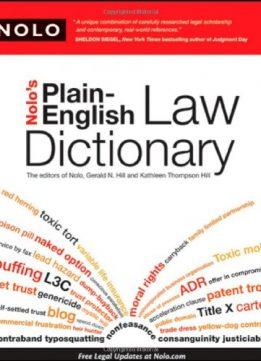 Download Nolo's Plain-English Law Dictionary
