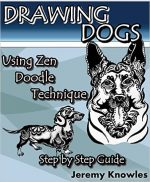 Drawing Dogs: Using Zen Doodle Technique. Step by Step Guide