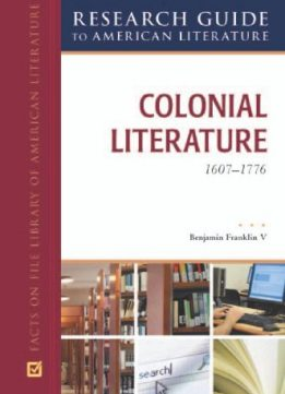 Colonial Literature, 1607-1776 - Download Free EBooks
