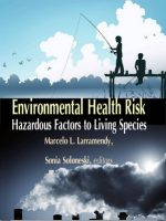 Environmental Health Risk: Hazardous Factors to Living Species