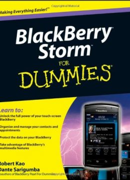 Download BlackBerry Storm For Dummies