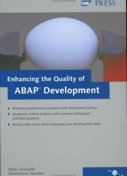 Download Enhancing the Quality of ABAP Development