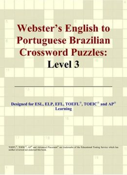 Download ebook Webster's English to Portuguese Brazilian Crossword Puzzles: Level 3 (Portuguese Edition)