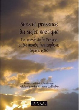Download ebook Sens et presence du sujet poetique