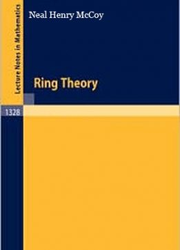 Download ebook The Theory of Ring