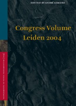 Download ebook Congress Volume Leiden 2004