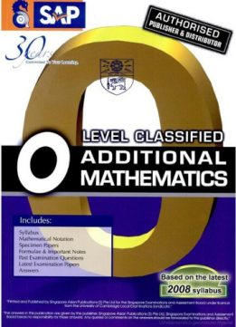Download ebook O-Level Classified Additional Mathematics with Model Answers