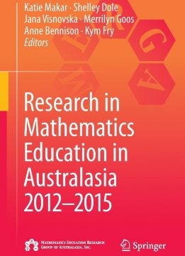 Download ebook Research in Mathematics Education in Australasia 2012-2015