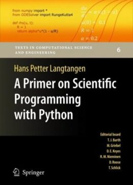 Download ebook A Primer on Scientific Programming with Python