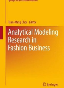 Download ebook Analytical Modeling Research in Fashion Business