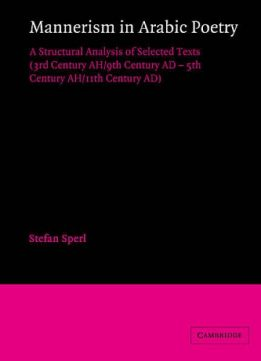 Download ebook Mannerism in Arabic Poetry: A Structural Analysis of Selected Texts