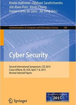 Download Cyber Security: Second International Symposium, CSS 2015