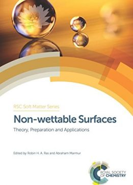 Download ebook Non-wettable Surfaces: Theory, Preparation & Applications