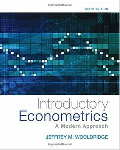 Download ebook Introductory Econometrics: A Modern Approach, 6th edition