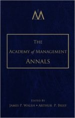 The Academy of Management Annals, Volume 1