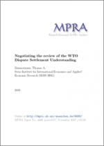 Negotiating the Review of the WTO Dispute Settlement Understanding