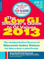 The Low GI Shopper's Guide to GI Values 2013