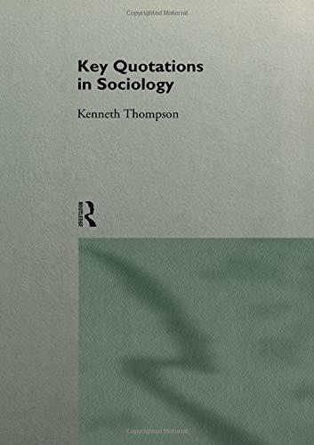 Key Quotations in Sociology