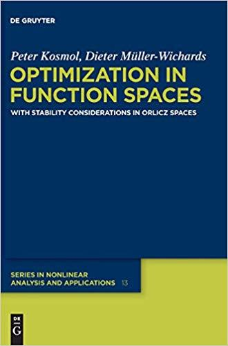 Optimization in Function Spaces: With Stability Considerations in Orlicz Spaces