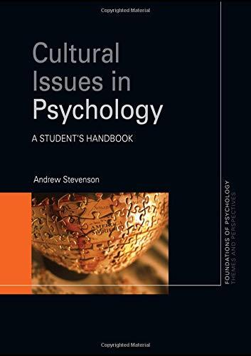Cultural Issues in Psychology: A Student's Handbook (Foundations of Psychology)
