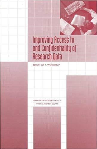Improving Access to and Confidentiality of Research Data: Report of a Workshop