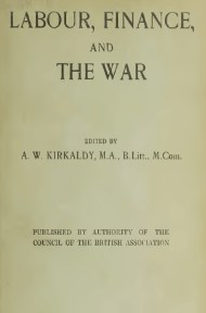Labour, Finance, and the War