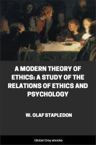 A Modern Theory of Ethics