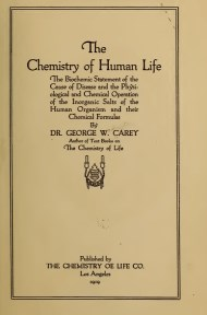 The Chemistry of Human Life