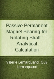 Passive Permanent Magnet Bearing for Rotating Shaft : Analytical Calculation
