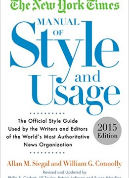 Download The New York Times Manual Of Style & Usage, 2015 Edition