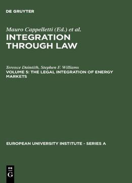 Download The Legal Integration Of Energy Markets (trends In Linguistics)