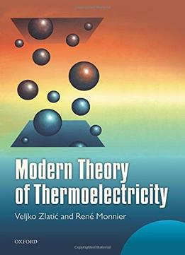 Download Modern Theory Of Thermoelectricity