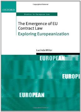 Download The Emergence Of Eu Contract Law: Exploring Europeanization